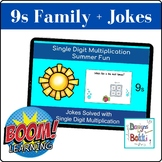 BOOM Cards Single Digit Multiplication Math Jokes (9 Family)