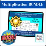 BOOM Cards Single Digit Multiplication Math Jokes (BUNDLE)