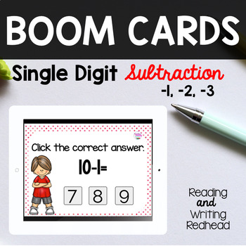 BOOM Cards™  Single Digit Subtraction -1, -2, -3