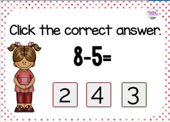 BOOM Cards™  Single Digit Subtraction -4, -5, -6