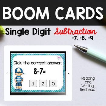 BOOM Cards™  Single Digit Subtraction -7, -8, -9