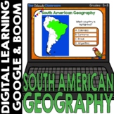 South America Map and Geography DIGITAL Cards | Google Cla