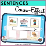 BOOM Cards   Speech-Language Therapy   Cause Effect Sentences