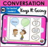 BOOM Cards   Speech-Language Therapy   Conversation Maintenance