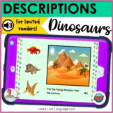 BOOM Cards   Speech-Language Therapy   Descriptions   Dinosaurs