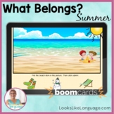 BOOM Cards   Speech-Language Therapy   FREE Summer What Belongs