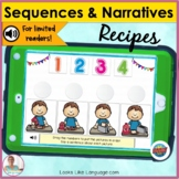 BOOM Cards   Speech-Language Therapy   Sequences and Narra