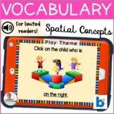BOOM Cards   Speech-Language Therapy    Vocabulary   Spati