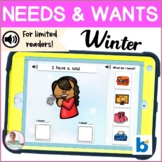 BOOM Cards   Speech-Language Therapy    Winter Needs and Wants