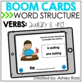 Auxiliary (helping) & -ING VERBS | BOOM Cards™️ Speech The