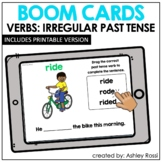 IRREGULAR PAST TENSE VERBS | BOOM Cards™️ Speech Therapy D