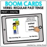 REGULAR PAST TENSE VERBS | BOOM Cards™️ Speech Therapy Dis