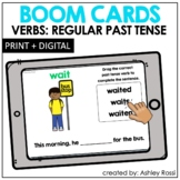REGULAR PAST TENSE VERBS   BOOM Cards™️ Speech Therapy Distance Learning