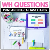 WH QUESTIONS Speech Therapy    BOOM Cards™️ Distance Learning