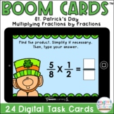 BOOM Cards™| St. Patrick's Day Multiplying Fractions by Fractions