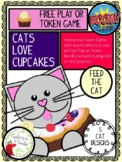 BOOM Cards Token Game:  Cats Love Cupcakes