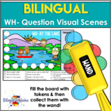 BOOM Cards | Visual Scenes for WH Questions | English & Spanish