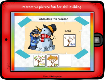 BOOM Cards Seasons No Prep No Print Interactive iPad Activity