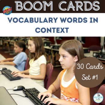BOOM Cards Vocabulary Words