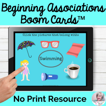 BOOM™ Cards for Beginning Associations Digital Task Cards Teletherapy