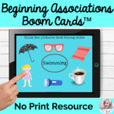 Language Associations Boom Cards™ Flashcards No Print Speech Therapy