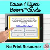 Cause & Effect Activities Boom Cards™ No Print Speech | Di