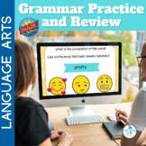 BOOM Cards Grammar Practice and Review BUNDLE