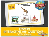 BOOM Cards in Spanish | Interactive WH- Questions | for Sp
