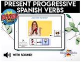 BOOM Cards in Spanish | Present Progressive Verbs | for Speech Teletherapy