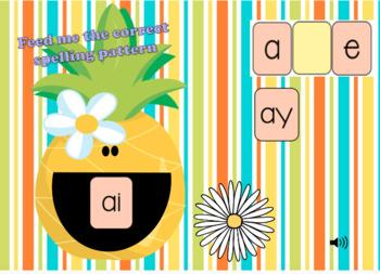 BOOM Deck Interactive First Grade Phonics: Long Vowels ai ay a_e