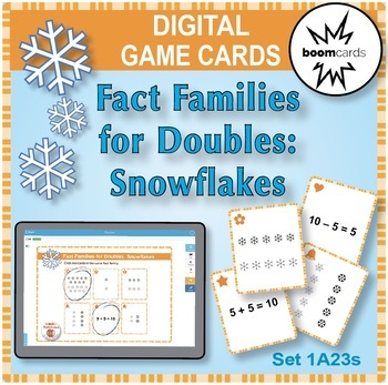 BOOM Digital Game Cards 1A: Fact Families for Doubles: Snowflakes