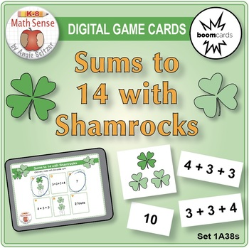 BOOM Digital Game Cards 1A: Sums to 14 with Shamrocks