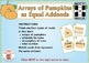 BOOM Digital Game Cards 2A: Arrays of Pumpkins as Equal Addends