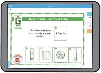 Halves, Thirds, Fourths, & Fifths: BOOM Digital Game Cards 2G