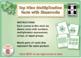 Top Nine Multiplication Facts with Shamrocks: BOOM Digital Task Cards 3A