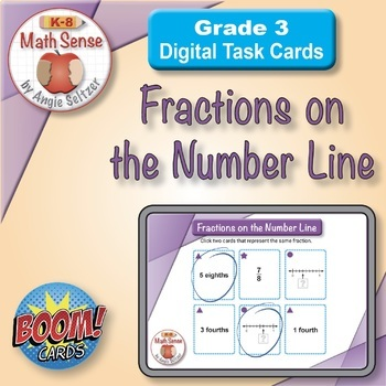 Fractions on the Number Line: BOOM Digital Game Cards 3F