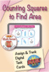 Counting Squares to Find Area: BOOM Digital Game Cards 3M32