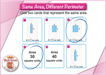 Same Area, Different Perimeter: BOOM Digital Game Cards 3M43