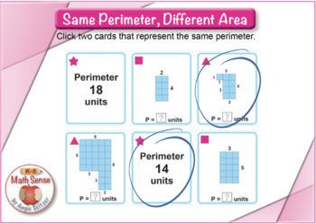 Same Perimeter, Different Area: BOOM Digital Game Cards 3M44