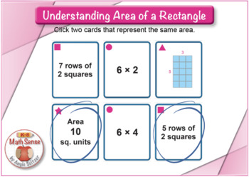 BOOM Digital Game Cards 3M: Understanding Area of a Rectangle
