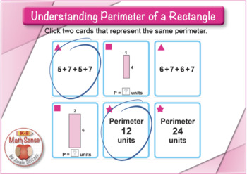 Understanding Perimeter of a Rectangle: BOOM Digital Game Cards 3M
