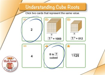 Understanding Cube Roots: BOOM Digital Game Cards 8E