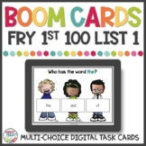 Sight Words Game | Fry First 100 List 1 | BOOM Digital Task Cards