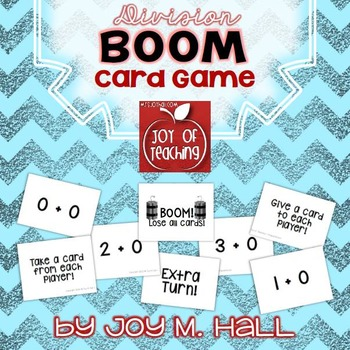 BOOM!  Division Facts Card Game for Math Centers and Math Stations
