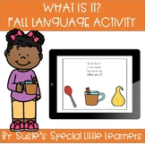 BOOM FALL WHAT IS IT LANGUAGE ACTIVITY FOR EARLY CHILDHOOD