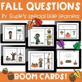 BOOM FALL QUESTIONS BUNDLE FOR EARLY CHILDHOOD SPECIAL ED