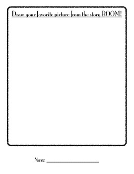 BOOM! Guided Reading Literacy Extension Worksheet