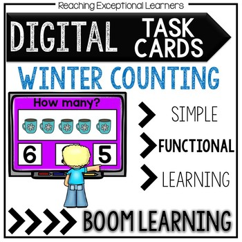 Digital Task Cards FREEBIE: Winter Counting 1-10