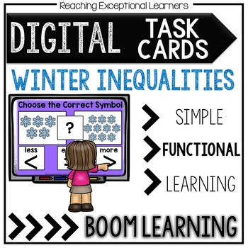 Digital Task Cards: Winter Inequalities