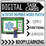 Digital Task Cards: Winter Number-Number Word